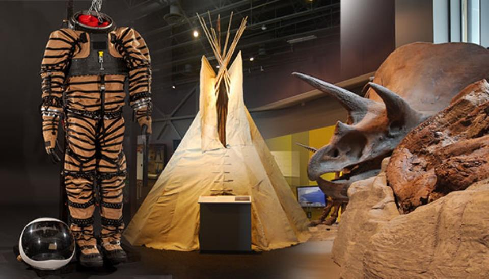 Mars Experimental Space Suit, Tipi, and Triceratops Skull