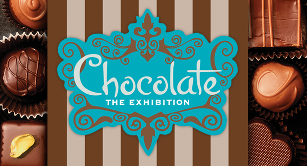 Chocolate the Exhibition logo with chocolates