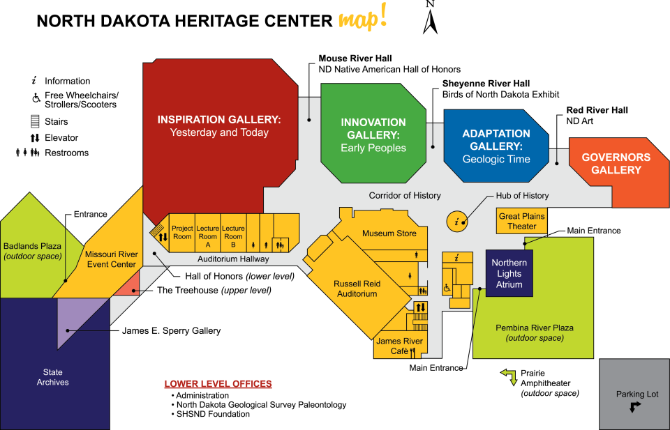 North Dakota Heritage Center & State Museum map