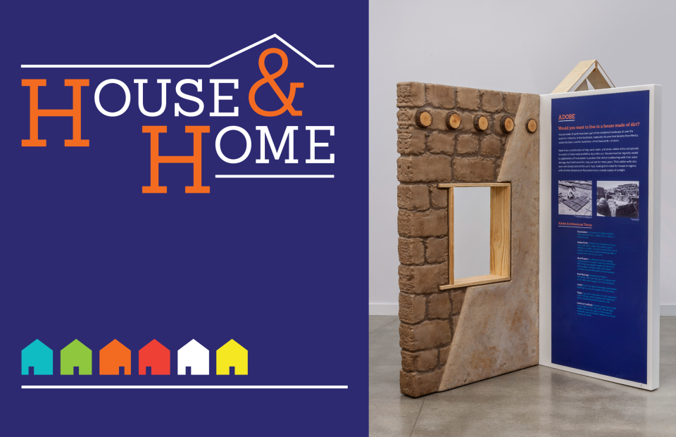 House & Home logo and exhibit panel