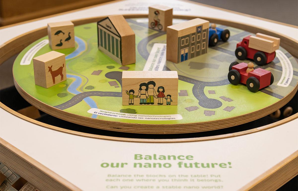 balance table with blocks on it