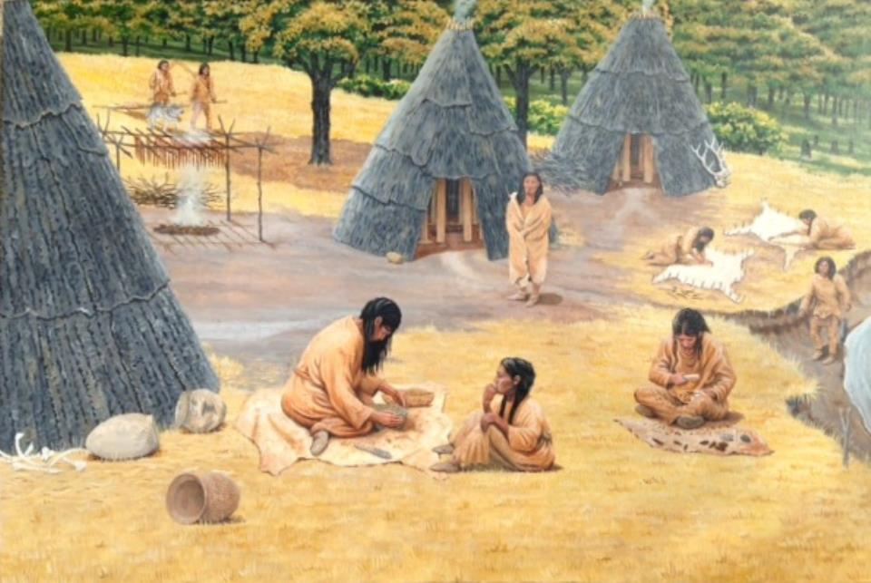 Innovation Gallery: Early Peoples-Naze house illustration
