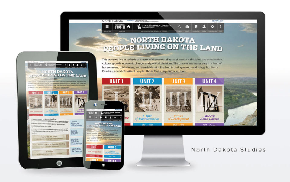 ND Studies - North Dakota People Living on the Land website