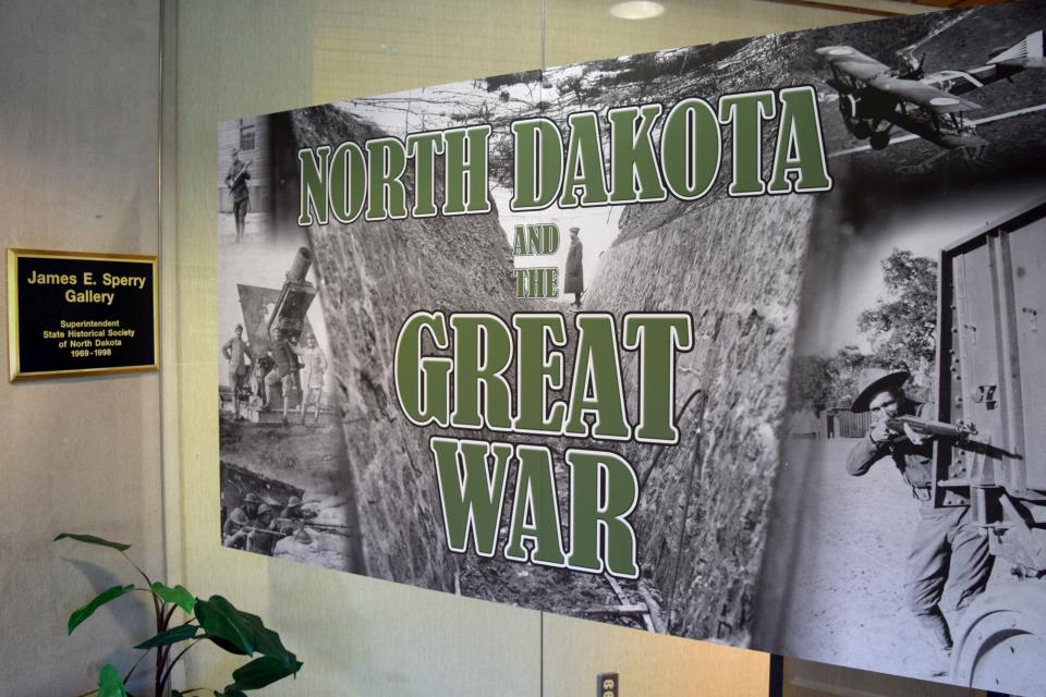 Entrance to North Dakota and the Great War Exhibit