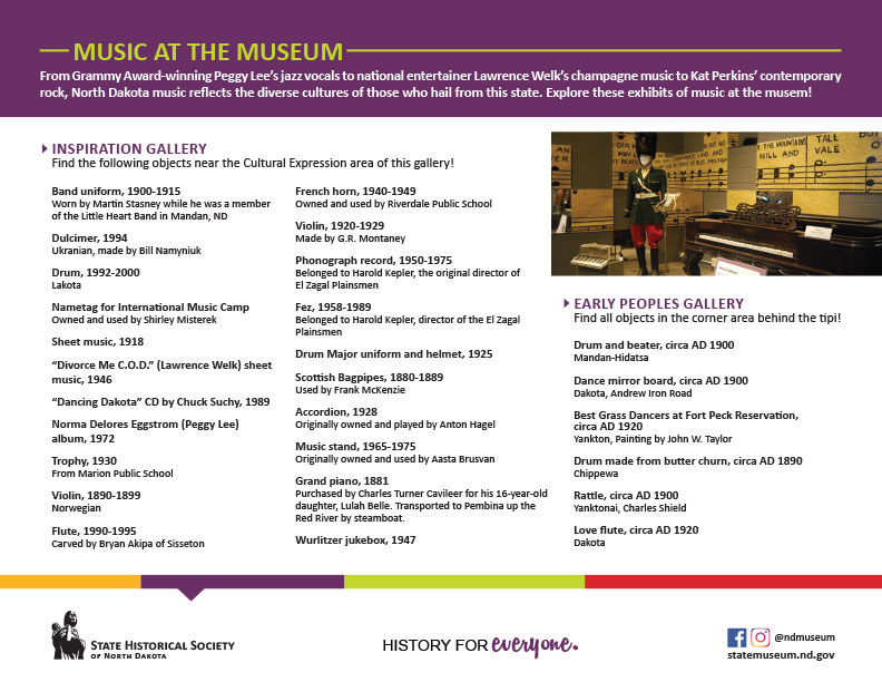 Music at the Museum flyer