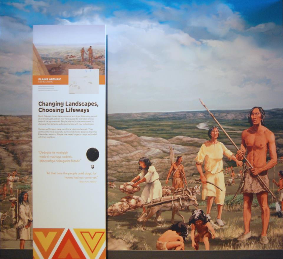 Innovation Gallery: Early Peoples-Changing Landscapes, Choosing Lifeways panel