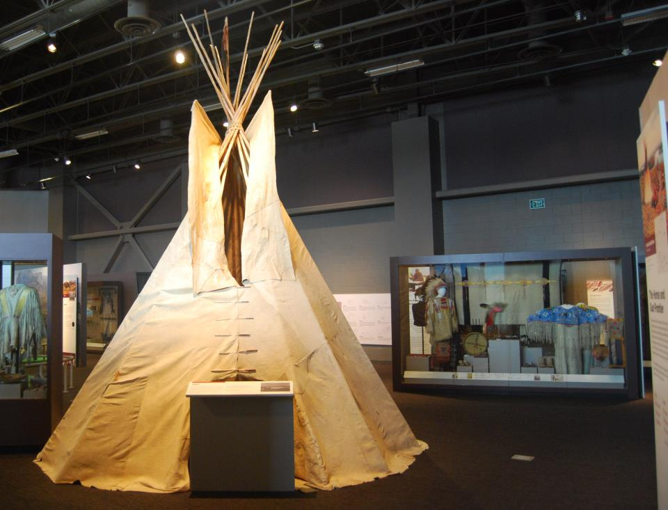 Innovation Gallery: Early Peoples-Horse and Gun Frontier tipi